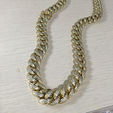 Miss Jewelry Cuban Link Dubai New Iced Out Gold Neck Chain Designs for Men