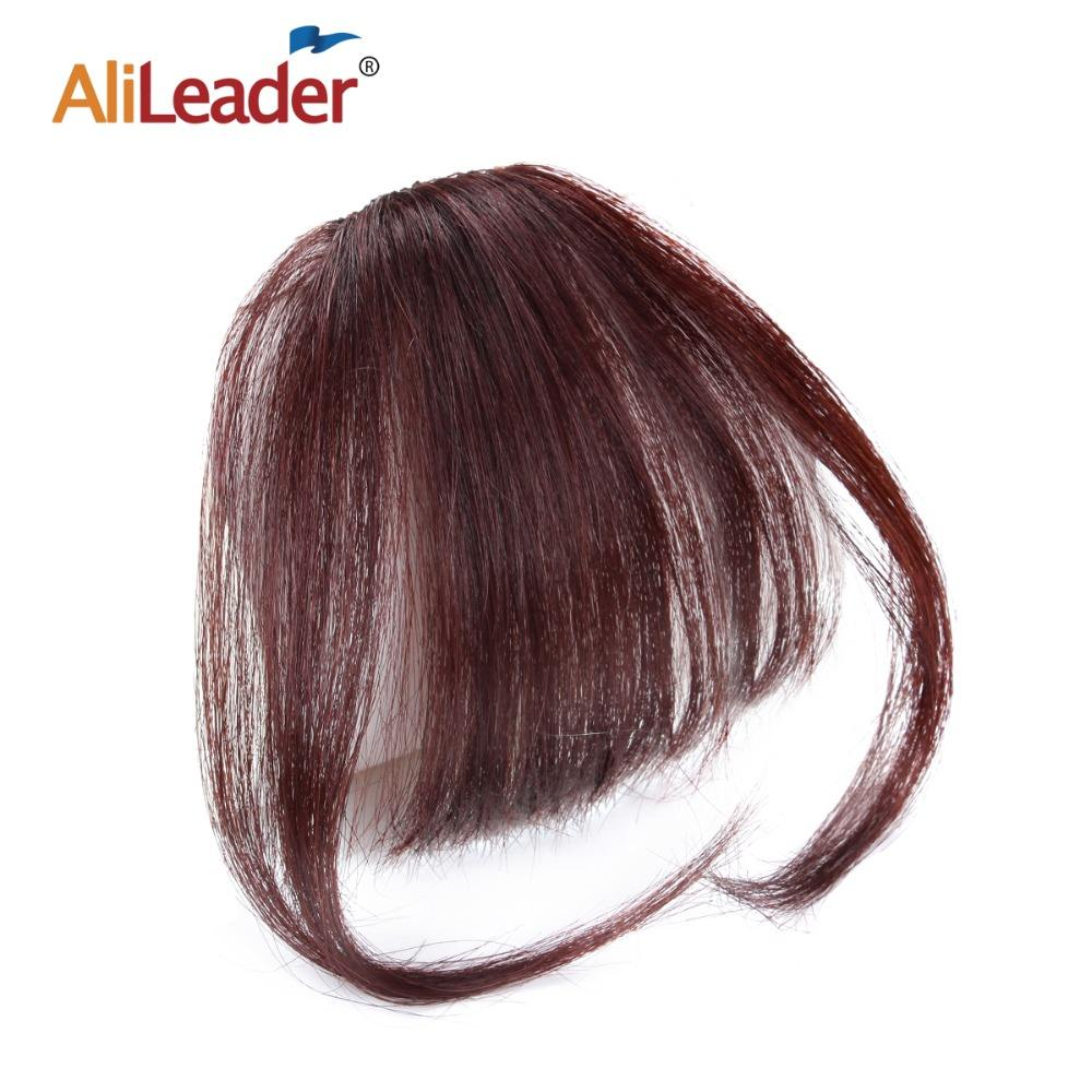 AliLeader Newest Brazilian Virgin Hair Air Bangs Well Priced Fashion 100% Human Hair Front Fringe Clip in Hair Extension
