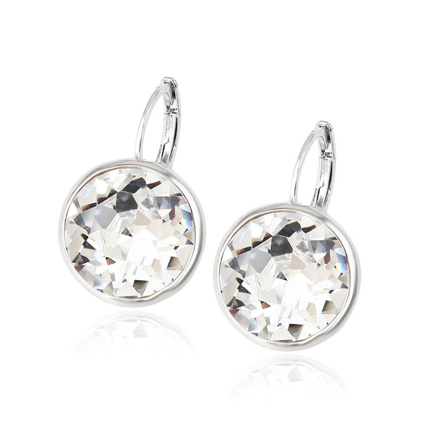94335 Model emas earring kristal dari Swarovski berlian besar elegan hoop earrings