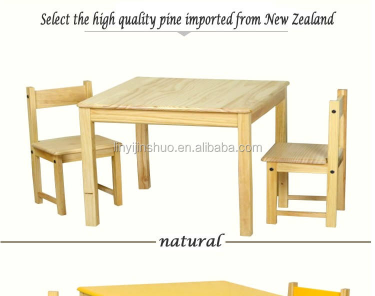 wholesale cheap wooden kids table and chair set, study table and chair set