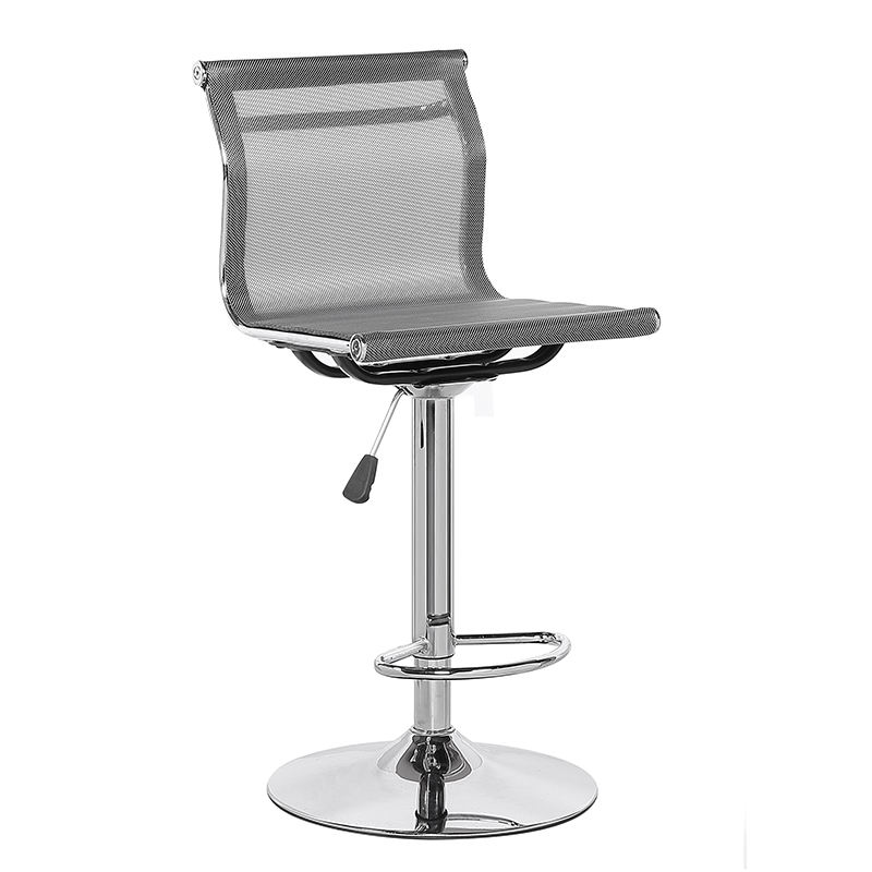 Bar Stool Modern Mexico Hot Sale Short Back Swivel Metal Adjustable Leather Bar Stool With Footrest