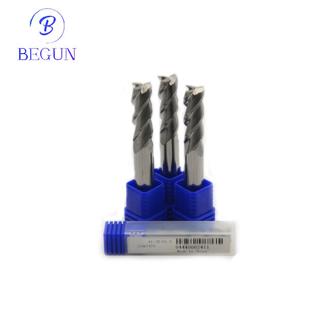 CNC tungsten solid carbide persegi end mill milling cutter 4 seruling zcc. ct end