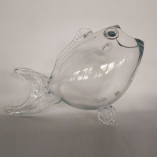 wholesale giant goldfish-shaped terrarium glass fish tank fish bowl