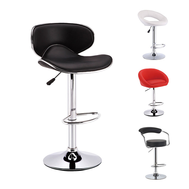 sale modern stainless steel high counter leather bar stool bar chair