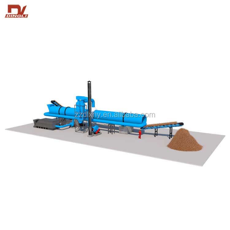 High Quality Palm Fiber Drum Dryer Coconut Fiber Dryer Machine
