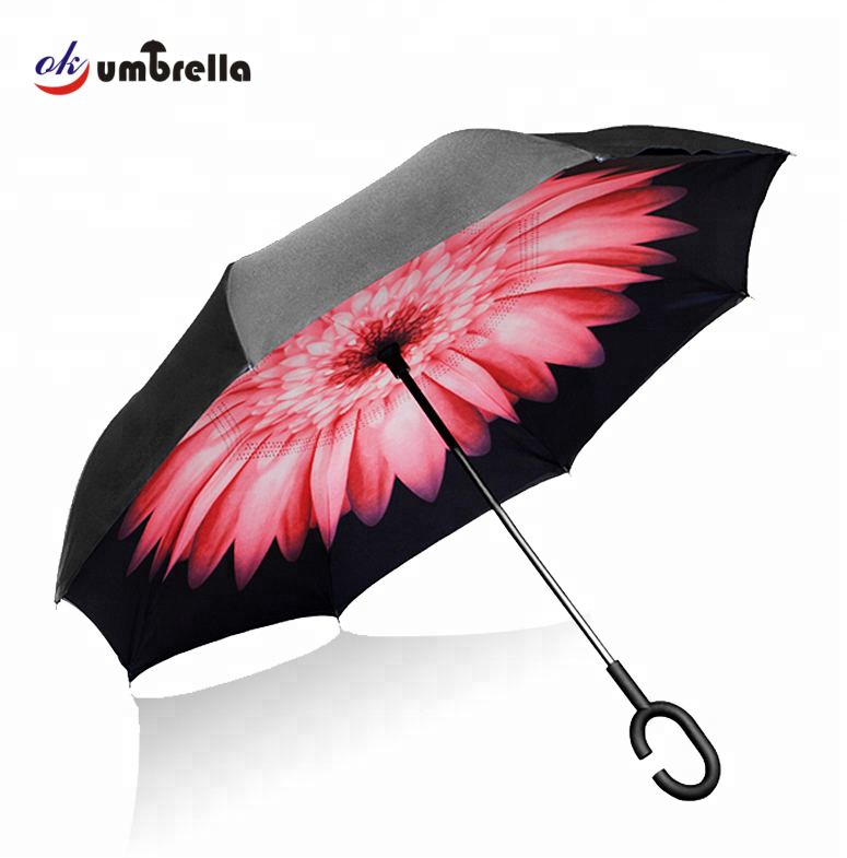 New inventions in china custom hands free inverted reverse umbrella