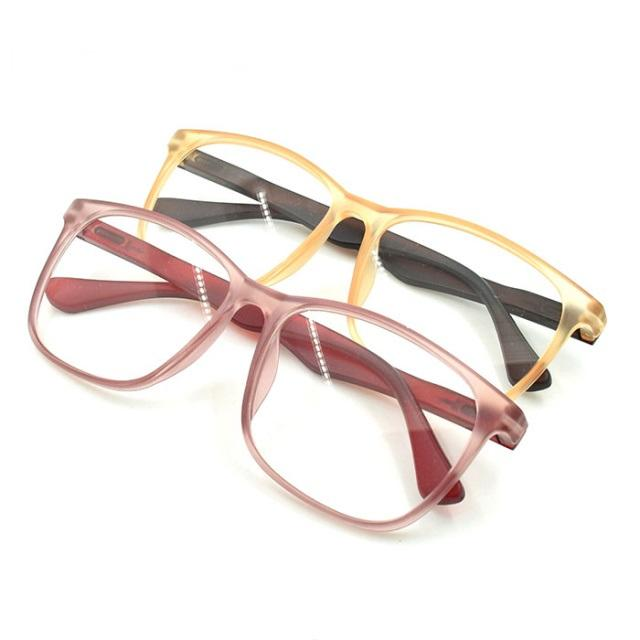 eyeglasses brand names women girl Pink Fashion Matt Optical frame Custom 6.25 reading glasses