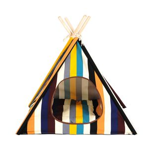 New Design Wholesale Custom Foldable China Pet Teepee Tent Wooden Dog Bed