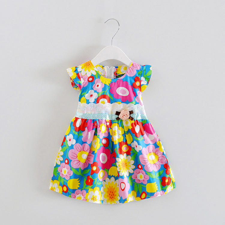 China hot sale Children Clothing Wholesale 2 Year Old Baby Girl Dresses with factory wholesale price