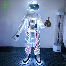 Christmas Carnival Halloween led light up clothes Space Suit For Masquerade Party Club Cosplay Luminous Astronaut led clothing
