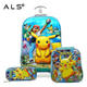 Wholesale children cute cartoon custom student school hard trolley luggage bag minion children school trolley bag with wheels