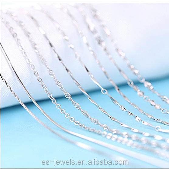 Different Type Thin Silver Chain Necklace