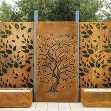 Garden Decorative Metal Screen Water Bubble Wall Panels