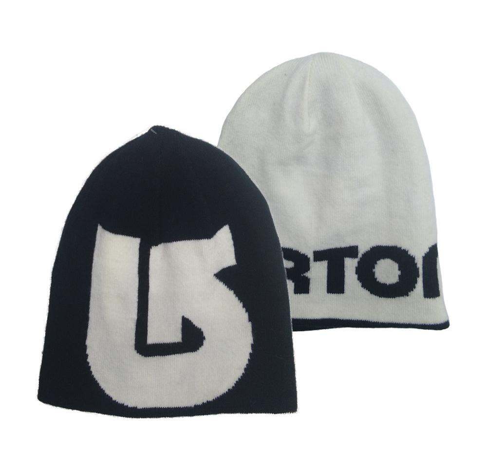 OEM high quality wholesale reversible jacquard hat acrylic spandex beanie