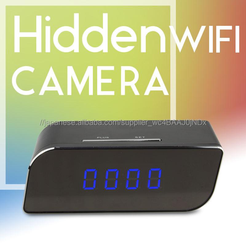 Vitevisionナイトビジョンwifiワイヤレステーブル目覚まし時計隠しカメラ付きボイスレコーダー