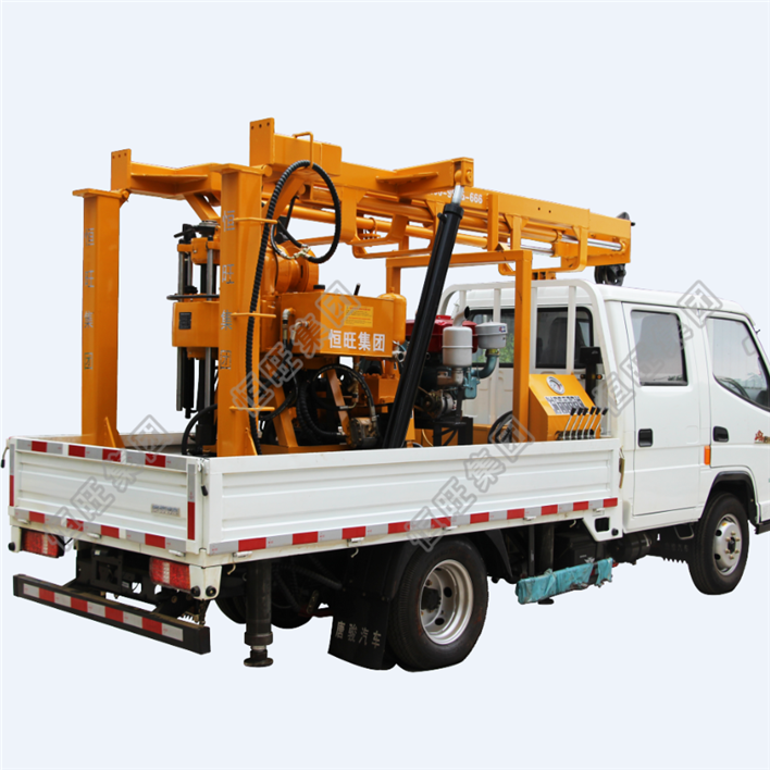 Portable Hydraulic Trailer Truck Mounted Drilling Rig 300m 500m 600m Deep Water Well Drilling Machine For Sale