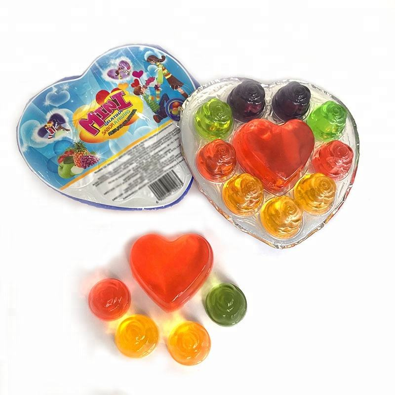 2020 Wholesale Fruit Flavor Heart Jelly For Children