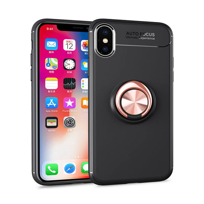 Back Cover 360 Degree Rotating Car Magnetic Ring Holder Mobile Phone Case for Oppo Realme 6s A92 Ace 2