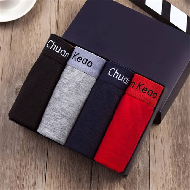 OEM label Customized boxes packing High Quality sexy men's 100% cotton underwear manufacturers direct sale,2019