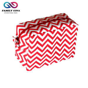 도매 모노그램 Zipper Chevron Cosmetic Bag