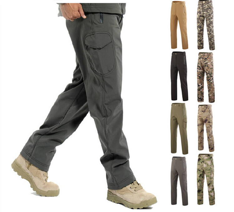 21-Colors Winter Shark Skin Windproof Soft Shell Trousers Army Uniform Hunting Military Tactical Pant