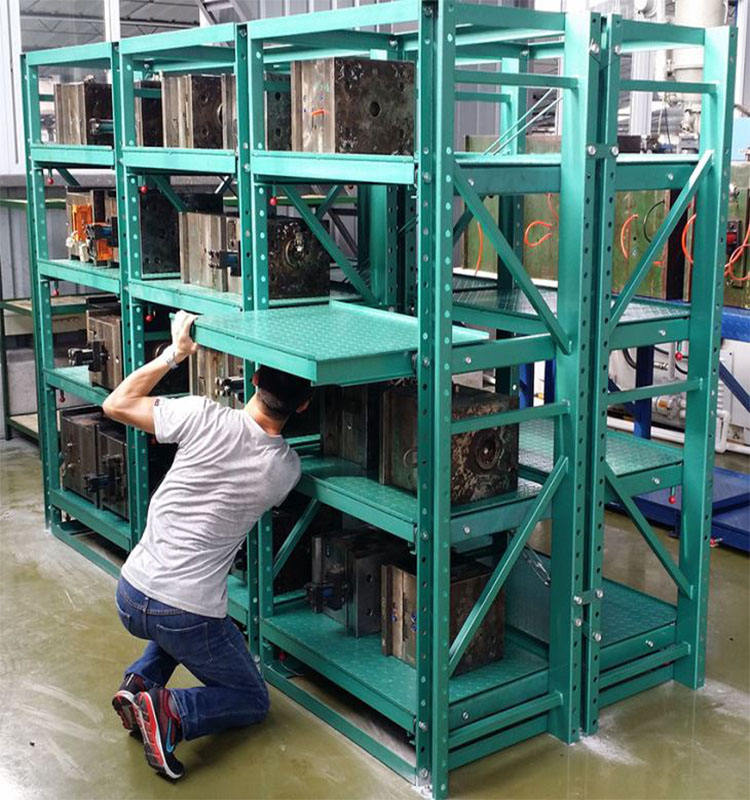 Storage shelves heavy duty drawer type die roller out racks injection mold racking