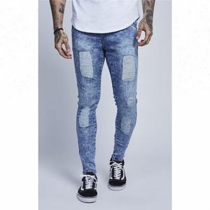 Royal wolf stretch skinny d jeans men distressed jeans acid washed jeans