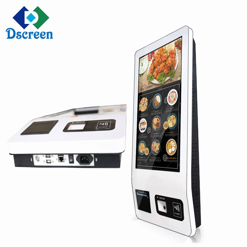 32 inch self service ordering kiosk white color with Android IR 10 points touch for restaurant