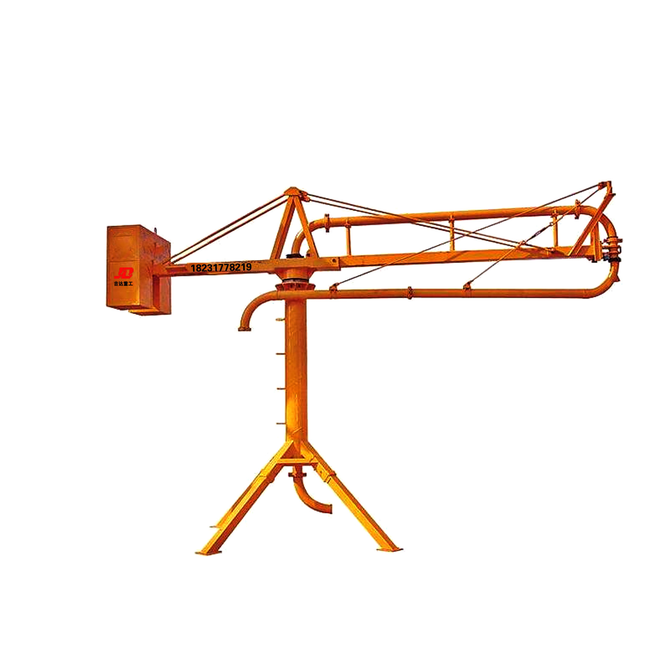 China manufacturer Light and cheap Construction machinery 12M 15M 18M Manual concrete placing boom/concrete spreader