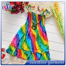 Spring Summer 2015ruffle sleeve smocked dress for infant toddler girls girls party dresses
