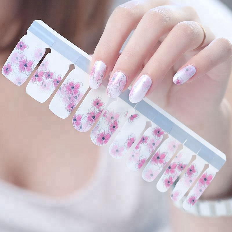 Non-toxic Nail Polish strips korea trendy nail polish stickers