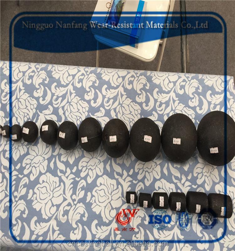 Высококачественной хромированной стальной шарик мелющих тел мяч с разницей диаметр