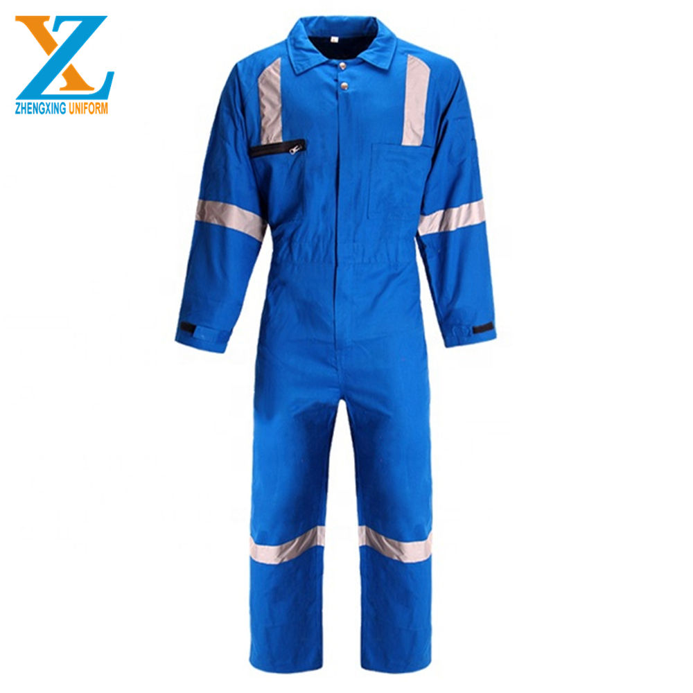 Professional Custom Hi Vis Fireproof Fire Resistant Coverall Uniforms