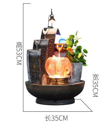 Resin craft tabletop indoor water fountain