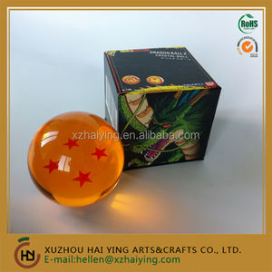 Anime Dragon Ball DragonBall Z Stars small Crystal 7.6 cm Balls Toy in color gift box