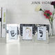 Jinnhome High Quality Alloy Collage picture frame Metal three folding photo frame beauty album Silver table photo frame