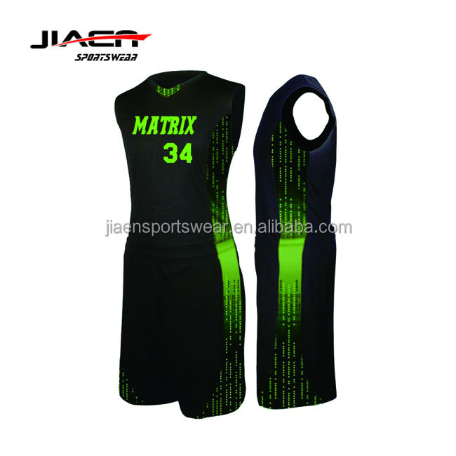 black green college stitched basketball uniform designs special basketball jersey