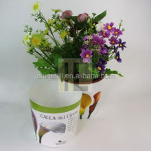 Folding plastic garden Printing plant pot cover, Flower customized printed decorate plastic plant pot Wraps/sleeves