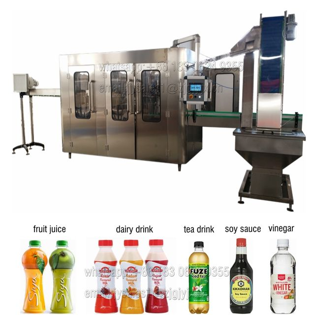 full production line for juice industry, PET bottle flavor water, dairy milk filling machine