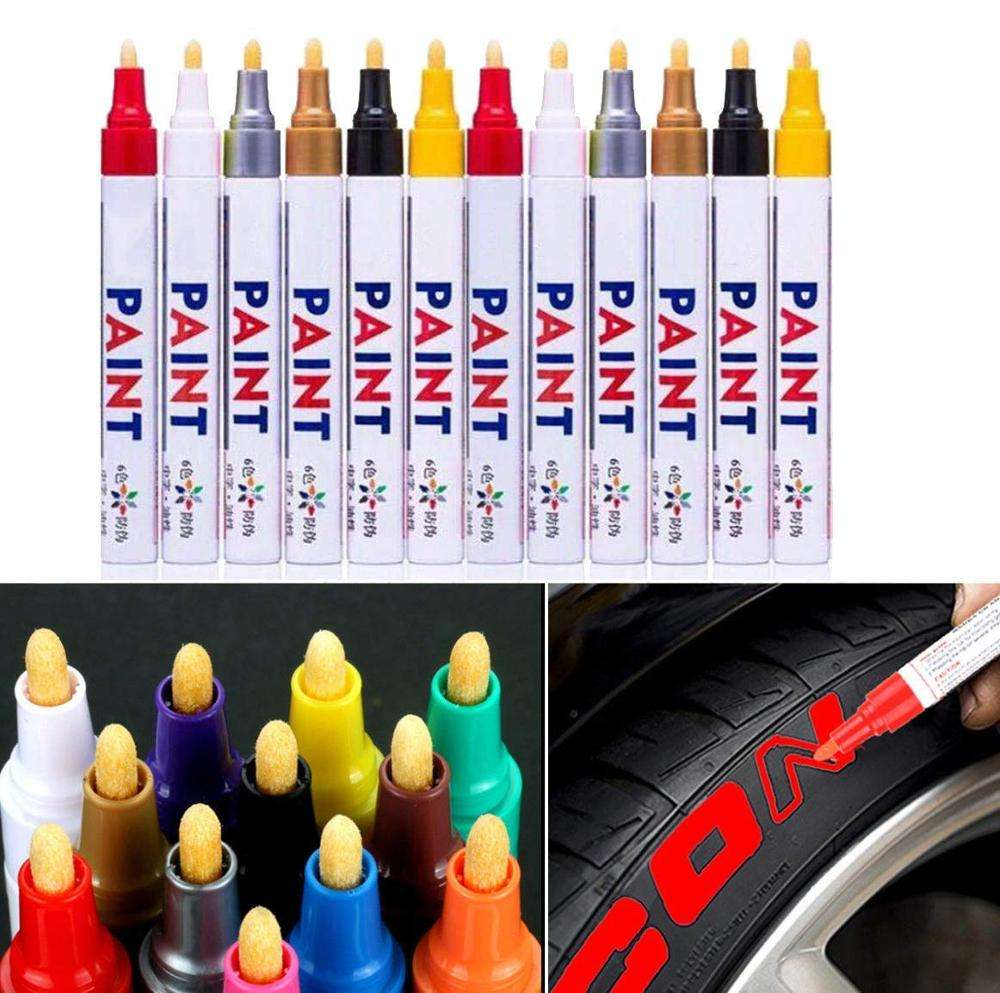 China Facoty 12 colors paint marker pen DIY album graffiti pen car tyre paint marker