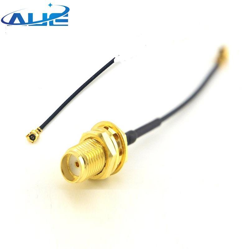 TNC female bulkhead to IPX IPEX UFL U.FL plug right angle RG178 Coax Jump cable