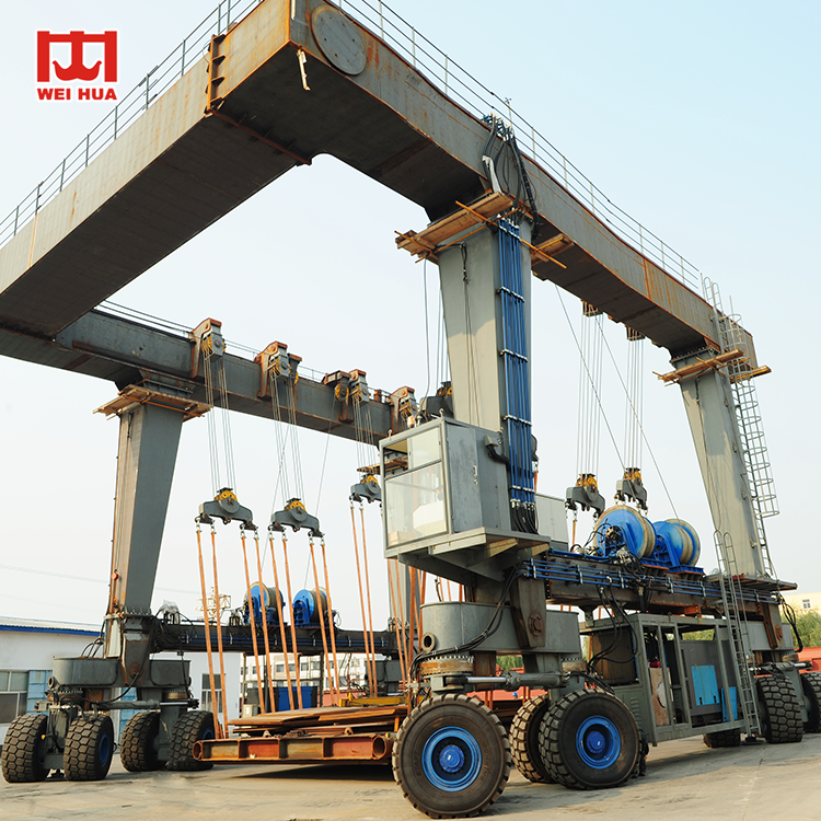 heavy duty mobile marine boat lift gantry crane100 ton price