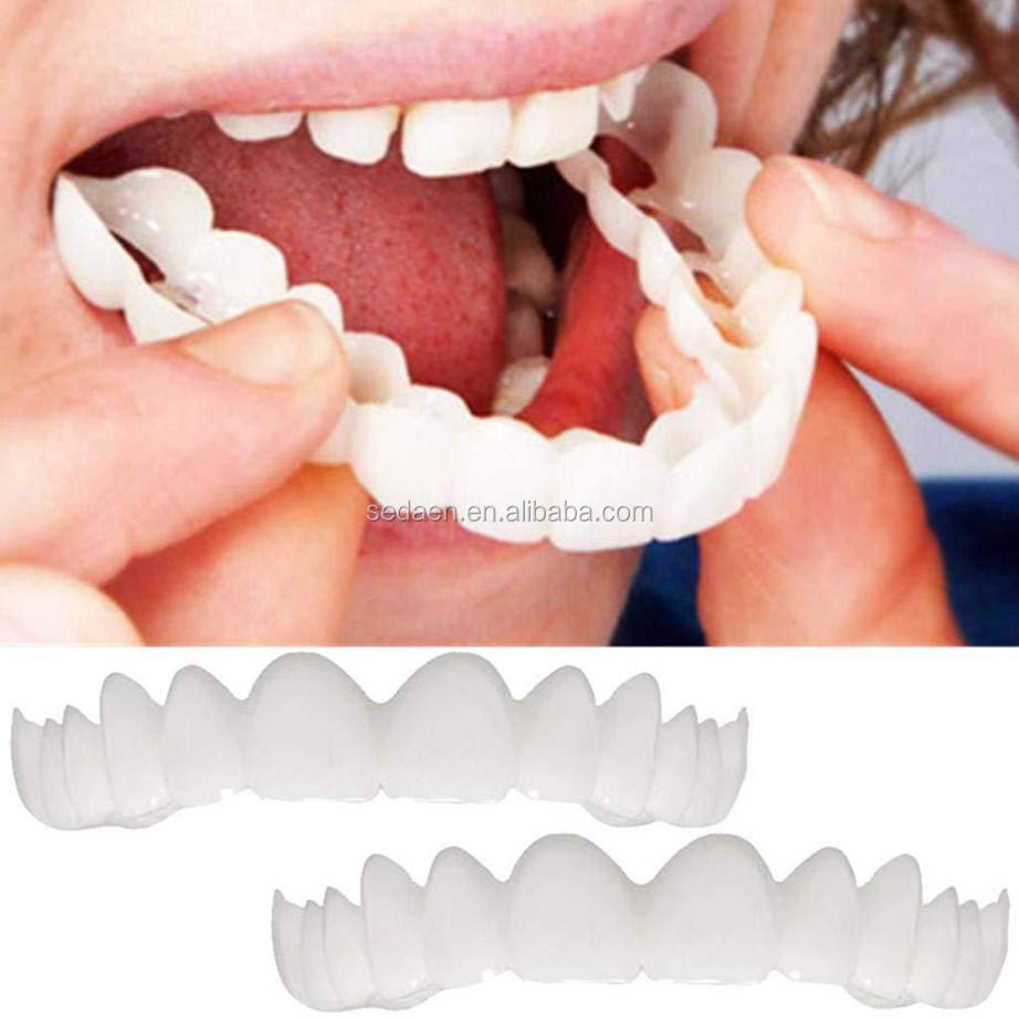 Snapon Smile Instant Veneers DenturesTeeth Serrated Denture Top Comfort