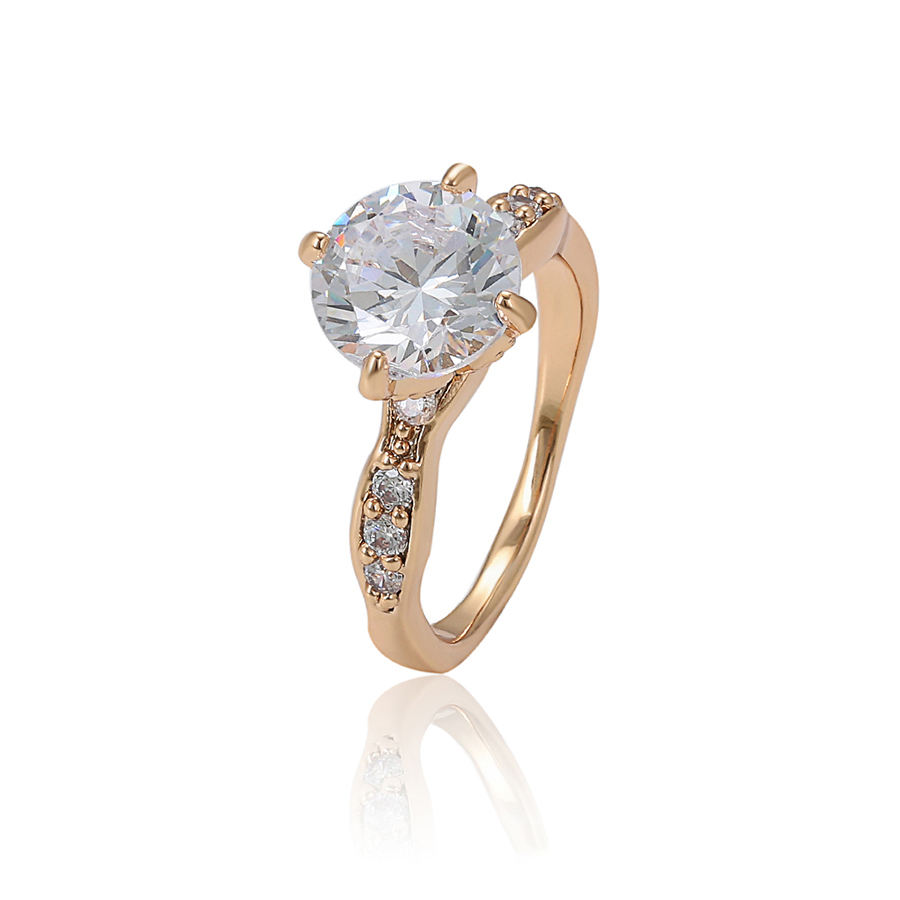 15966 Simple design rose gold plated 10k 1 gram gold jewellery jewellery 11 carat diamond ring