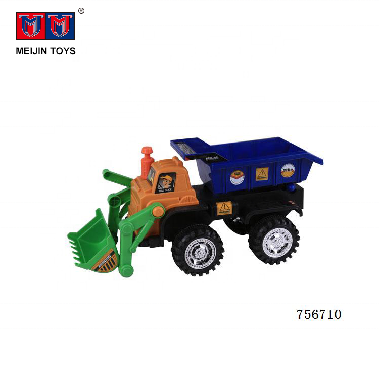 wholesale cheap plastic car slide bulldozer toys for kids play