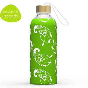 2018 New Custom BPA Free Borosilicate Glass Water Bottle