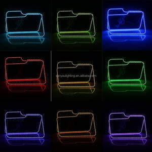F150 RGB Multi-Color LED Angel Eyes Halo Rings For Ford 09-14 F150