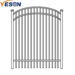 Galvanized metal gates wrought iron gate door