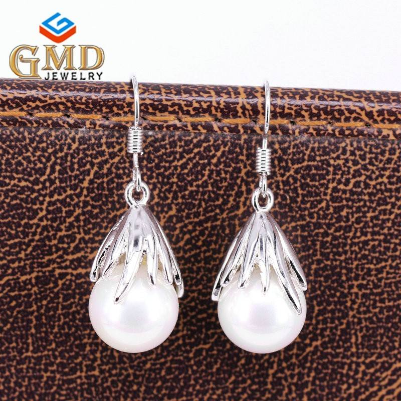 Friend birthday presents fashionable jewelry handmade pure silver earring hook styles