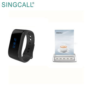 SINGCALL wireless watch wrist pager system wireless button restaurant